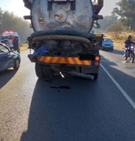 Truck and car collision leaves one seriously injured in Douglasdale