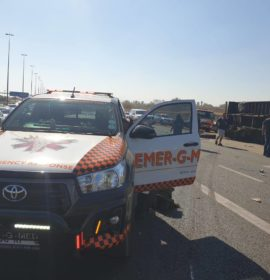 Collision involving a truck on the R21 South after N1 interchange