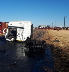 Driver killed in three-truck collision 15km from Magaliesburg