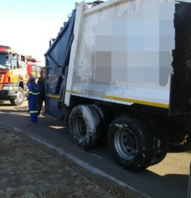 Gauteng: Two injured in dump truck and car crash