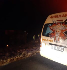 Truck overturned leaving one injured on the N5