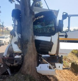 Driver trapped in a Truck in Chatsworth