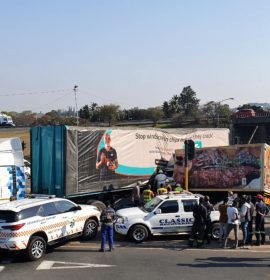 1 Killed, 3 injured in Crash on the M13 offramp to Richmond Road in Pinetown