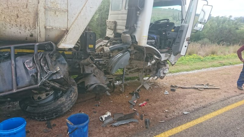 Man left seriously injured following collision between bakkie and truck in Paarl