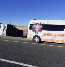 Truck rollover leaves driver injured on the N8 near Kimberley