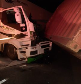 Two-truck collision in Harrismith leaves one injured