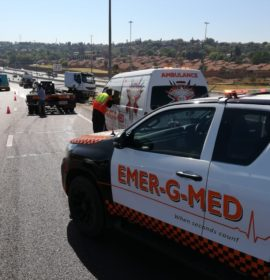 Truck collision on the R21 leaves one injured