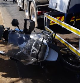 Gauteng: Motorcyclist critical following crash with a truck in Pretoria