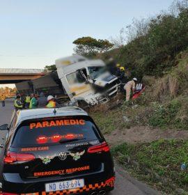 Passenger severely injured in Truck crash