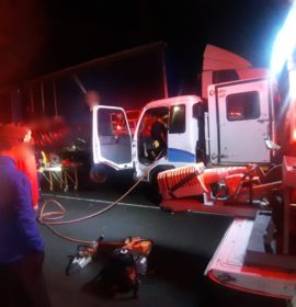 KwaZulu-Natal: Truck driver freed using Jaws of Life.