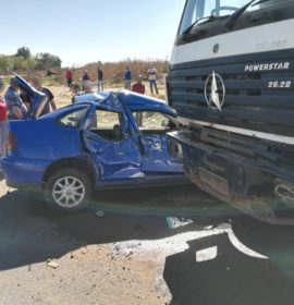 Gauteng: Elderly male injured in truck vs car crash in Boksburg