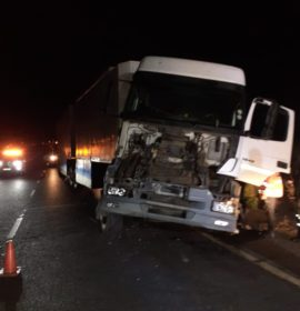 Collision between two trucks on the N3