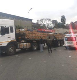 Crawling Pedestrian Crushed By Truck in Verulam