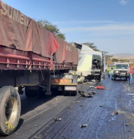 Six injured in a truck collision on the N3