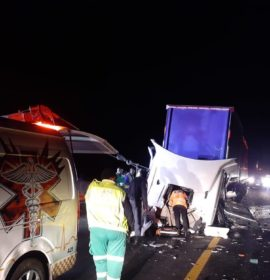 Truck collision leaves two injured on the N3