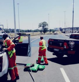 Diesel spill after collision on the N3 Bedfordview
