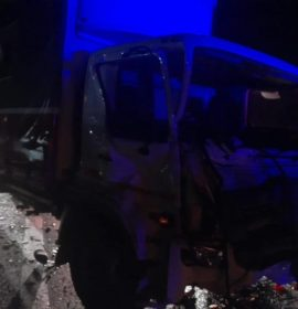 Collision between a truck and a vehicle on the N3