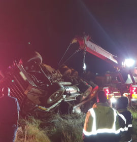 Truck driver injured in rollover on the R54 in Fochville