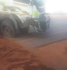 Gauteng: One dead another critical in N4 truck and car collision