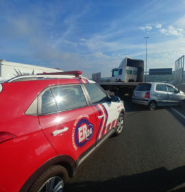 Truck and car collide leaving two seriously injured in Randburg