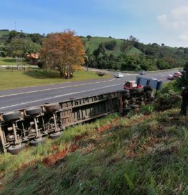 Truck rollover off the N2 at Marina Beach