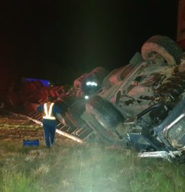 Truck rollover on the N3 near Ultra City