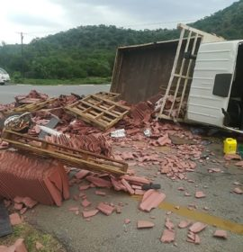 Collision between a small truck and bakkie on the R37