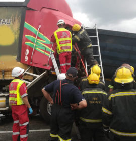 Truck driver critical following collision with detached trailer outside Potchefstroom