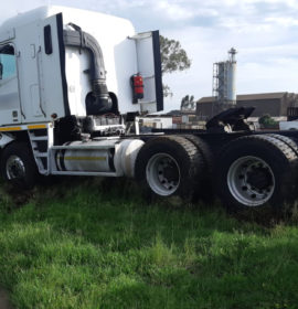Truck and car collide leaving man seriously injured in Vereeniging