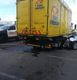 No injuries in collision at intersection in Pretoria