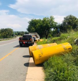 No injuries in dangerous goods collision near Lanseria