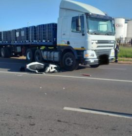 Truck and motorcycle collision leaves one injured in Factoria
