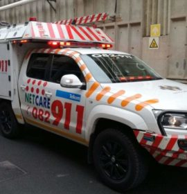 Gauteng: Worker seriously injured when truck tyre explodes in his face.