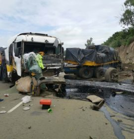 Serious truck and multiple vehicles collision on the M7