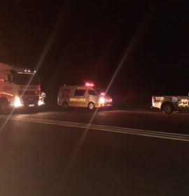 Fortunate escape from injury as trucks collide near Harrismith