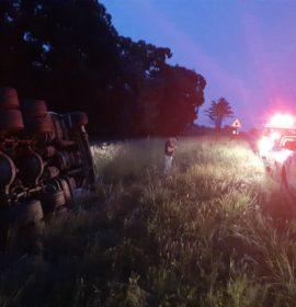 One injured in truck rollover near Harrismith