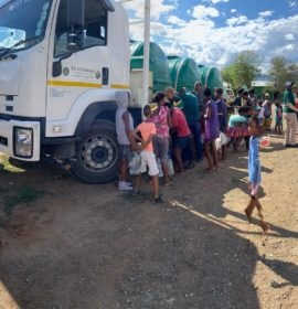 Isuzu Trucks Continue to Deliver Water with Gift of the Givers