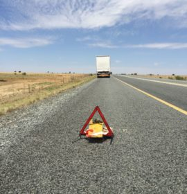 Emergency or Yellow Lane Driving and Sharing the Roads Safely with Trucks