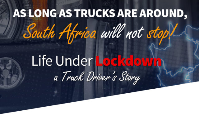 "Truck Driver's Story: ""I tell my family: don't touch me anymore, not until Coronavirus is gone""."