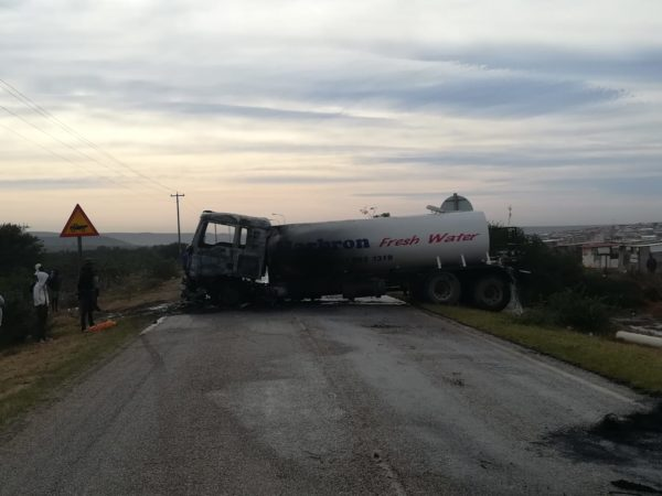 Police launch probe after a water truck is torched in Uitenhage