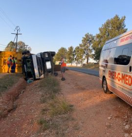 Two seriously injured in a truck rollover in Muldersdrift