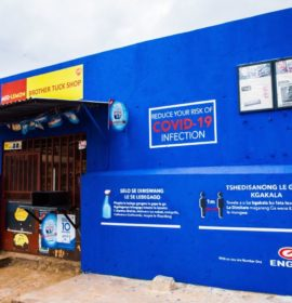 Engen Spaza shop murals help educate about COVID-19