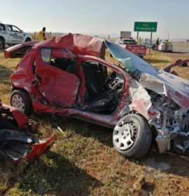 Truck and car collide leaving one dead, two injured in Potchefstroom