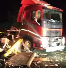 Two truck collision on the N3 leaves one injured