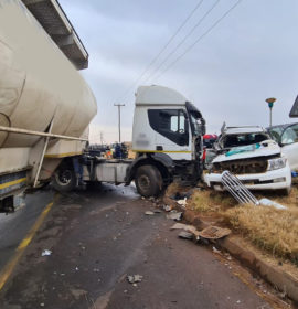 One critically injured in a collision involving a truck in Benoni