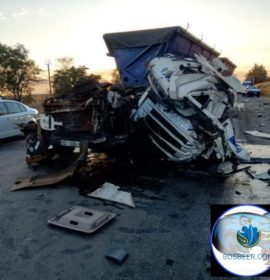 Serious truck collision on the N4