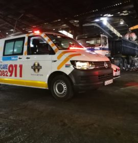 KwaZulu-Natal: Man seriously injured after falling from truck at a warehouse