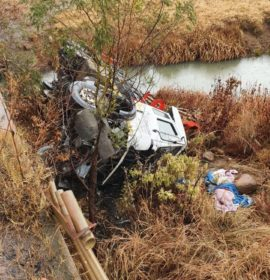 Four people injured as truck goes off the R34 Stillwater bridge