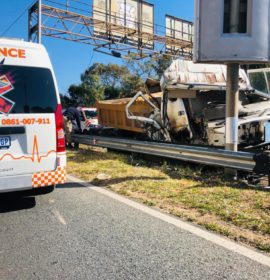 Two injured in a truck collision on the M1 in Johannesburg