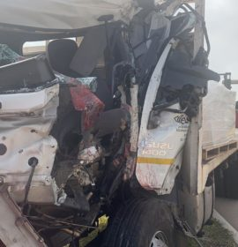 Fire truck rear-ended by a truck on the N2 near Ballito